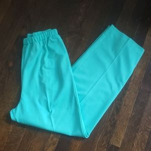 Vintage Teal Green Wide Leg Casual Comfy Pants